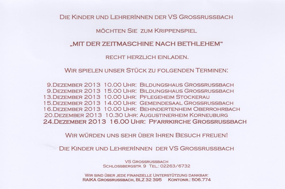 einladung krippenspiel vs grossrussbach 02, Einladung